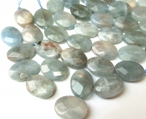 Natural Aquamarine, Faceted Oval