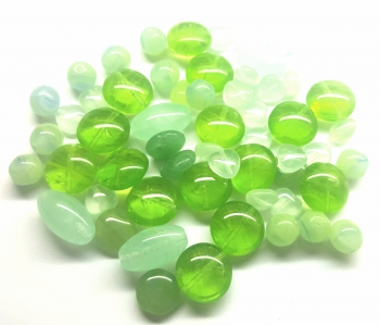 Preciosa Ornela ® Czech Pressed Glass Beads Mix, *Lawn Green*