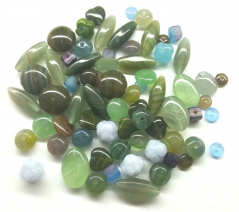 Czech Pressed Glass Beads, Mixed Shapes & Size, *Mixed Earth*