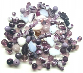Preciosa Ornela ® Czech Pressed Glass Beads, Mixed Shapes & Size, *LiIac*