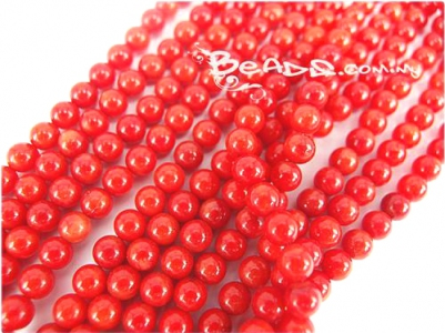 Natural Coral Beads, 5.5MM Round shape