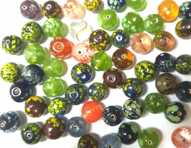 Handmade Fancy Lampwork Glass Beads, *Spot Mix*