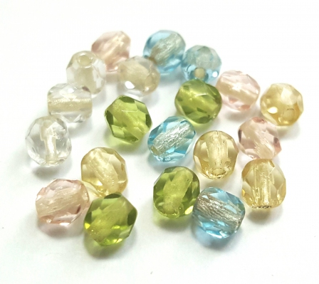 Czech Pressed Glass Beads, 4mm Rice shape
