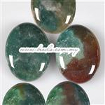 Bloodstone Gemstone Cabochon, AA Grade Quality, Oval shape, Flat Back & Domed Top