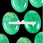 Turquoise Gemstone Cabochon, AA Grade Quality, Oval shape, Flat Back & Domed Top, Green Grass