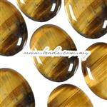 Tiger Eye Gemstone Cabochon, AA Grade Quality, Oval shape, Flat Back & Domed Top
