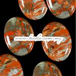 Red Stripe Jasper Gemstone Cabochon, AA Grade Quality, Oval shape, Flat Back & Domed Top