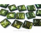 Dichroic Handmade Glass Cabochon, Square shaped