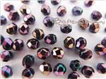 Czech Fire Polish Glass Beads, Faceted Round, *Purple Iris*