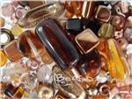 Czech Pressed Glass Beads, Mixed Shapes & Size, *Metallic Matter Copper*