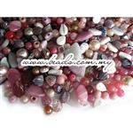 Czech Pressed Glass Beads, Mixed Shapes & Size, *Dusty Rose*