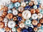 Preciosa ® Czech Faux Pearl Glass Beads, Mixed Shape & Size, *Mix*