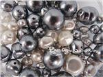 Preciosa ® Czech Faux Pearl Glass Beads, Mixed Shape & Size, *Grey Mix*