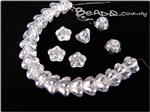Czech Pressed Glass Beads, 8MM Baby Bellflower, *Luster Crystal*