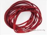 Faux Suede Flat Ribbon, 3MM Burgundy color