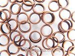Double Jump-Ring Finding, Round 6MM outer diameter, Antique Copper electroplated