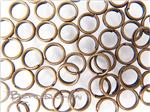Double Jump-Ring Finding, Round 6MM outer diameter, Antique Bronze electroplated
