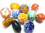 Handmade Lampwork Beads, Sugar Design, Focal Mixed shape, Opaque colors Mix