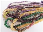 Burma Gemstone Beads, Handcut Faceted Rondelle shape