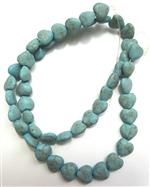 Turquoise Gemstone, 7mm Smooth Puff Heart shape