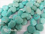 Natural Chalk Turquoise Gemstone, Heart shape