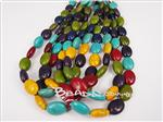 Turquoise Magnesite Puffy Oval Beads