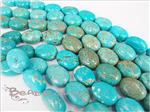 Turquoise Gemstone, Puff Oval Beads