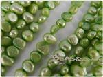 Fresh Water Pearl Beads, Apple Green, Nugget shape, 5-7mm long
