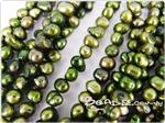 Fresh Water Pearl Beads, Gold Green, Nugget shape, 5-7mm long