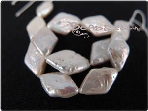 Natural Keishi Pearl Beads, Diamond shape
