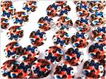 Natural Printed Sea Shell Bead, 15MM *Monarch Butterflies*