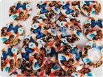 Natural Printed Sea Shell Bead, Focal 30MM *Monarch Butterflies*