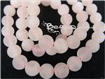 Frosted Rose Quartz Gemstone, 8MM Round shape