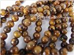 Gold Tiger Eye Gemstone Beads, 6MM Round shape