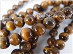 Gold Tiger Eye Gemstone Beads, 8MM Round shape