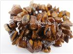Gold Tiger Eye Gemstone Beads, Irregular Chips shape
