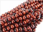 Red Tiger Eye Gemstone Beads, 6MM Round shape