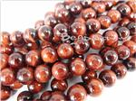 Red Tiger Eye Gemstone Beads, 8MM Round shape